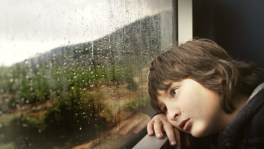 Kleiner Junge am Fenster (Bild von Shlomaster auf Pixabay)