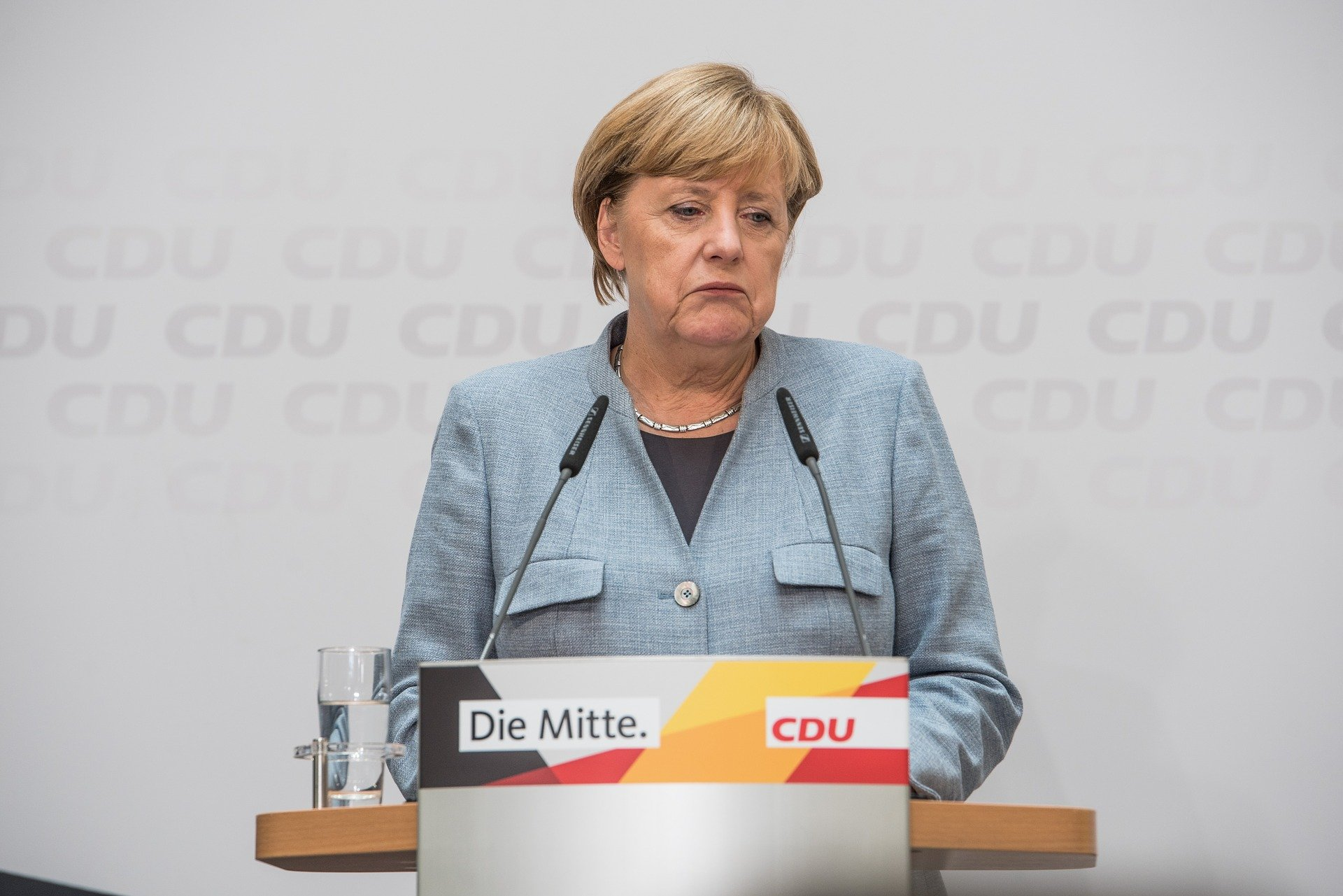 Traurige Angela Merkel