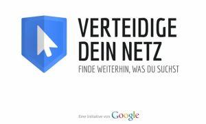 """Logo der Kampgane """"Verteidige Dein Netz - Finde weiterhin, was Du suchst"""""""