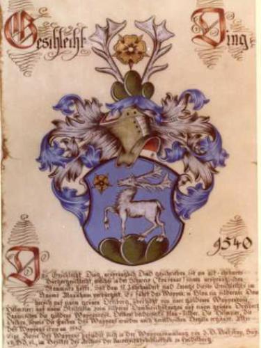 Wappen der Familie Ding