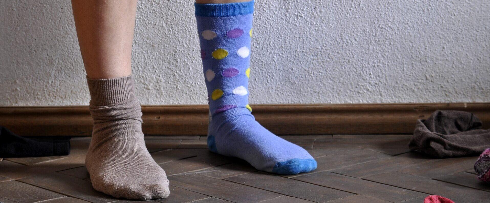 Unterschiedliche Socken